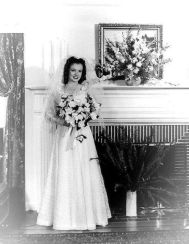 Marilyn's first wedding at 16