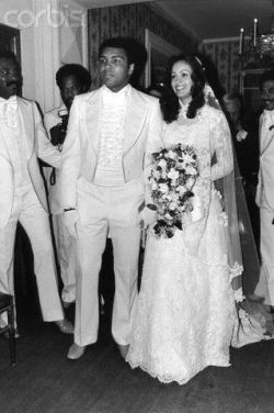 Muhammad Ali and his bride, Veronica Porsche.