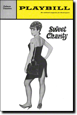 Original Playbill for Sweet Charity choreographed & directed by Bob Fosse - January 29 1966 – July 15, 1967 at the Palace Theatre
