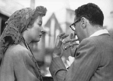 Directing Greer Garson in DESIRE ME 1947