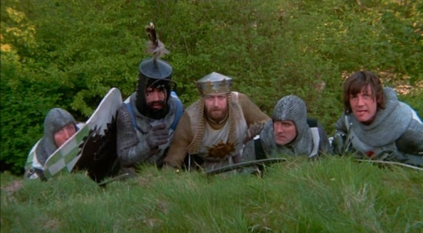 The legend of monty python and the holy grail 1975 for 12 knights of the round table and their characteristics