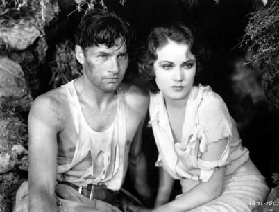 Richard Arlen and Fay Wray in THE SEA GOD (1930)