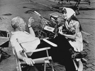 With Audrey on set of My Fair Lady