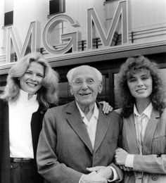 with Candice Bergen and Jacqueline Bisset, stars of his final film, Rich and Famous 1981