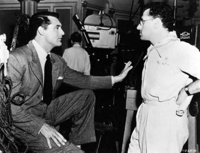 With Cary Grant behind the scenes of THE PHILADELPHIA STORY