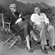 With Lana Turner while filming A Life of Her Own 1950