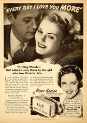 1935 Lux Soap ad