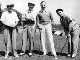 Jack Pearl, Bing Crosby, Jack Benny and Chico Marx