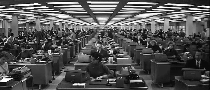 Image result for the apartment 1960 office