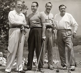 Craig Wood, Bob Hope Victor Ghezzi, Babe Ruth