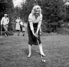 Marilyn Golfing at Banff Springs