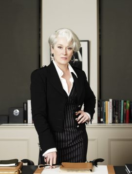 As Miranda Priestly in THE DEVIL WEARS PRADA