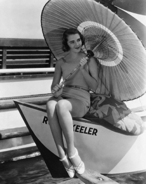 Actress Ruby Keeler Holding a Parasol