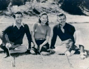 Taylor, Stanwyck and Gable