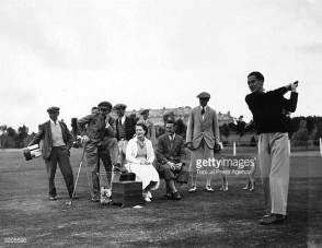 Thalberg swings and Norma Shearer watches