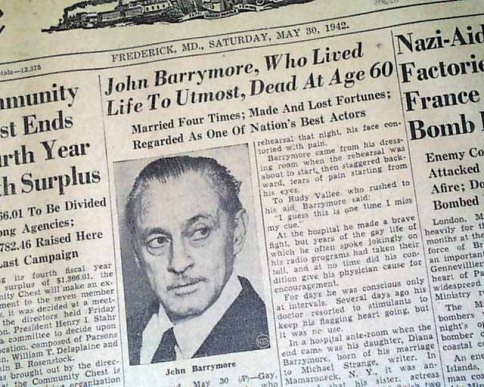 Barrymore Headline