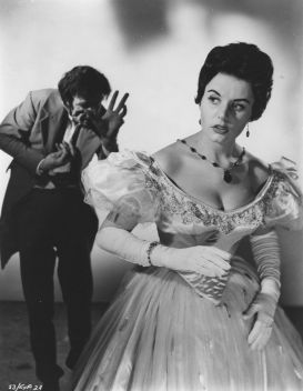 Eunice Gayson with Micahel Gwynn THE REVENGE OF FRANKENSTEIN