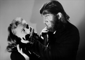 Loiuse Currie and Bela Lugosi in THE APE MAN