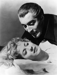 Melissa Stribling with Christopher Lee HORROR OF DRACULA