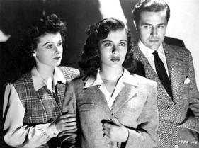 Ruth Hussey and Gail Russell with Ray Milland-- The Uninvited 1944