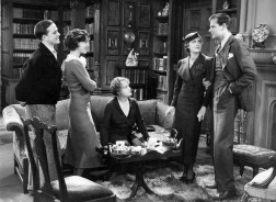 Eric Linden, Frances Dee, Laura Hope Crews, Irene Dunne and Joel McCrea in THE SILVER CORD (1933)
