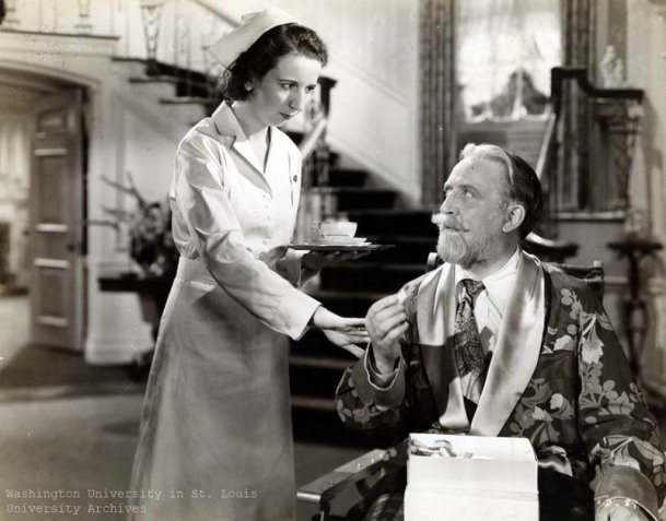 Wickes and Woolley in the 1942 movie version of The Man Who Came to Dinner
