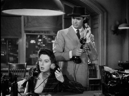 Rosalind Russell and Cary Grant in HIS GIRL FRIDAY