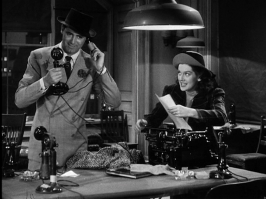 Russell and Grant in HIS GIRL FRIDAY