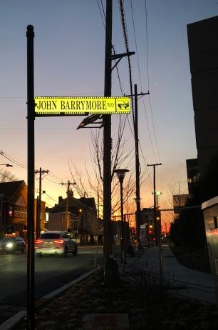 John Barrymore Way looking up Main Street in Fort Lee, NJ