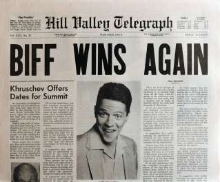 Biff wins big on sports betting by knowing the winners beforehand