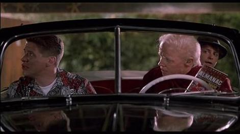 Old Biff gives Young Biff the sports almanac