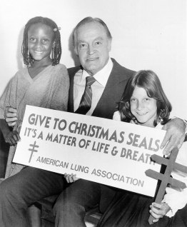 Bob Hope with young Christmas Seals artists