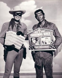 Clayton Moore (The Lone Ranger) and Jay Silverheels (Tonto) for Christmas Seals