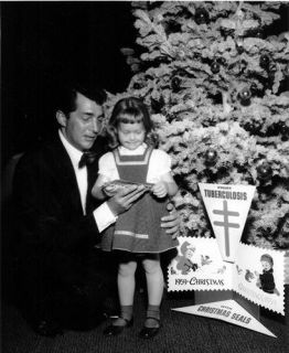 Dean Martin and a young fan for Christmas Seals