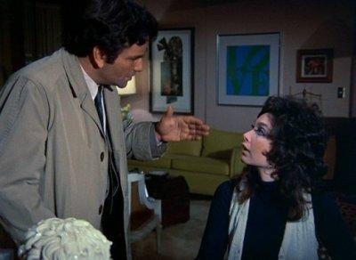 Columbo and his witness, Mrs. Stewart