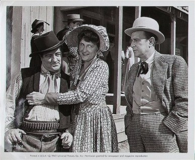 With Abbott and Costello as the Widow Hawkins