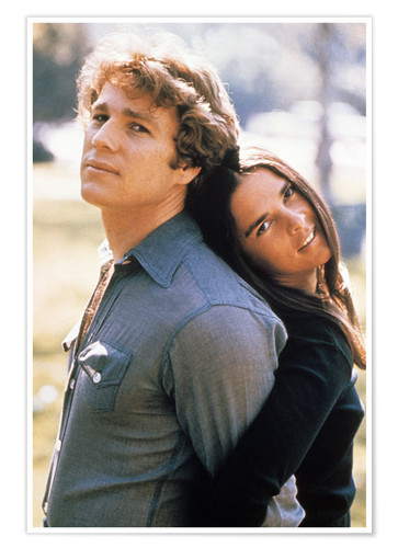 Ryan O'Neal and Ali MacGraw as Oliver and Jenny