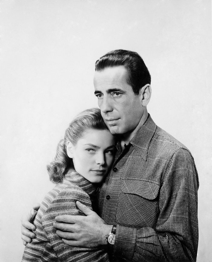 "Bogart and Bacall Star in ""Bold Venture"""